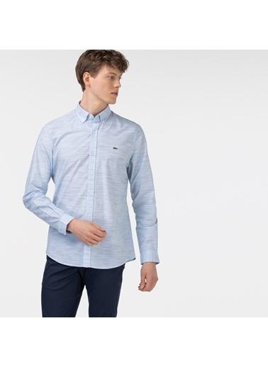 Lacoste Erkek Slim Fit Gömlek CH0132.32M Mavi
